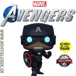Funko Pop Games Marvel Captain America (Avengers Game) GITD Vinyl Figure