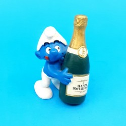 The Smurfs - Smurf with Champagne second hand Figure (Loose)