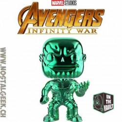 Funko Pop Marvel Avengers Infinity War Thanos (Green Chrome) Exclusive Vinyl Figure