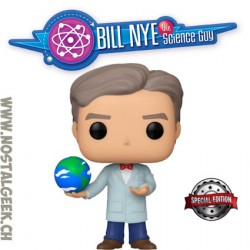 Funko Pop Icons Bill Nye with Globe Exclusive Vinyl Figure