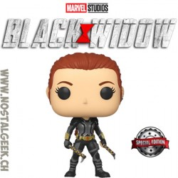 Funko Pop! Marvel Black Widow (Gray Suit) Exclusive Vinyl Figure