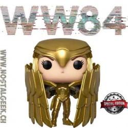 Funko Pop DC WW84 Wonder Woman Golden Armor Shield (Metallic) Edition Limitée