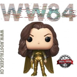 Funko Pop DC WW84 Wonder Woman Golden Armor (Wings Out) Edition Limitée