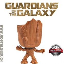 Funko Pop Marvel Groot (Wood Deco) Exclusive Vinyl Figure