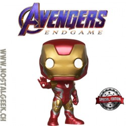 Funko Pop Marvel Avengers Endgame Search the Guide Iron Man [I am Iron Man] GITD Exclusive Vinyl Figure