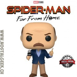 Funko Pop Marvel Spider-Man Far From Home J. Jonah Jameson Exclusive Vinyl Figure