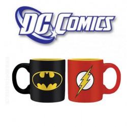 DC Comics Set 2 mini-mugs 110 ml Batman & Flash Logo