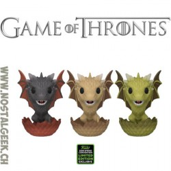 Funko Pop ECCC 2020 Game of Thrones Drogon, Viserion & Rhaegal (Hatching 3-Pack) Exclusive Vinyl Figure