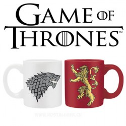 Game of Thrones Set 2 mini-mugs 110 ml House Lannister & House Stark Logo