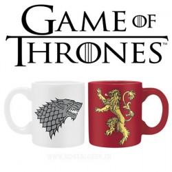 Game of Thrones Set 2 mini-mugs 110 ml House Lannister & House Stark Logo