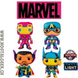 Funko Pop Marvel Pack Black Light Edition Limitée