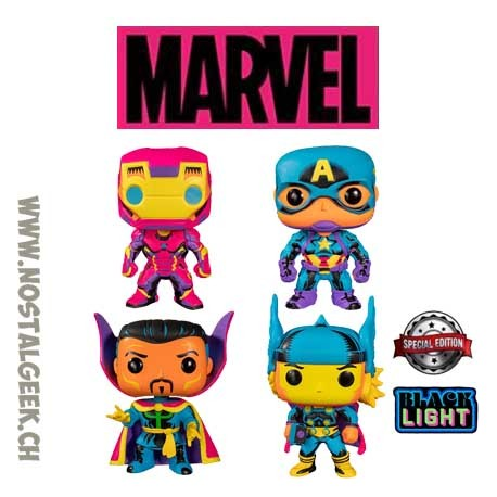 Funko Pop Marvel Pack Black Light Exclusive Vinyl Figure