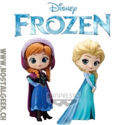 Disney Characters Q Posket Frozen Anna & Elsa Duo Pack Banpresto Figures