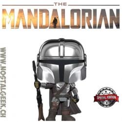 Funko Pop Star Wars The Mandalorian (Chrome Beskar Body Armor) Edition Limitée