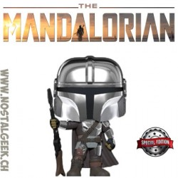 Funko Pop Star Wars The Mandalorian (Chrome Beskar Body Armor) Exclusive Vinyl Figure