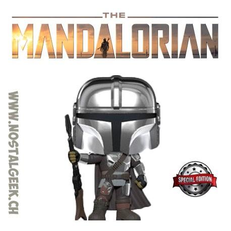 Funko Pop Star Wars The Mandalorian (Chrome Beskar Body Armor) Exclusive Vinyl Figure
