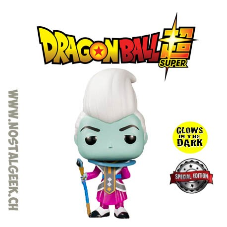 Funko pop Dragon Ball Super Whis GITD Exclusive Vinyl Figure