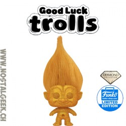 Funko Pop Trolls Gold Troll (Diamond Collection) Exclusive Vinyl Figure