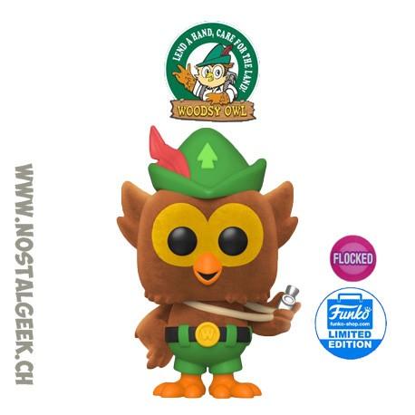 Funko Pop Ad Icons Woodsy Owl Flocked Exclusive Vinyl Figure