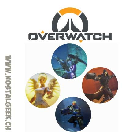 Overwatch Set of 4 3d Coasters