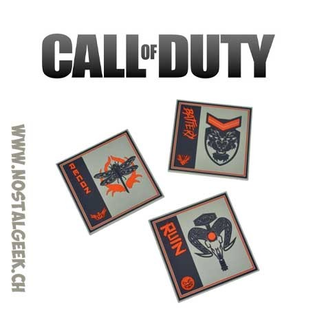 Call of Duty Set of 3 silicon Coasters