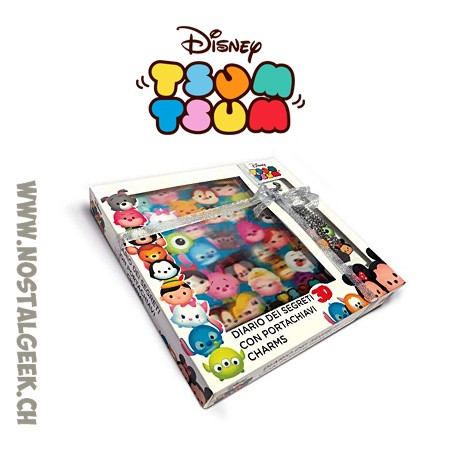 Tsum Tsum Secret Diary + Keyring charms