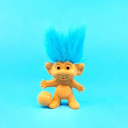 Troll 8 cm blue hair Football second hand figure (Loose)