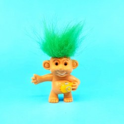 Troll on Hols 1996 Rock Star (Cheveux verts) Weetos Figurine d'occasion (Loose)