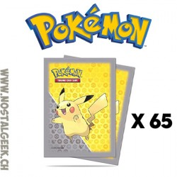 Pokemon Pikachu 65 x Ultra Pro Trading Card Supplies Deck Protectors