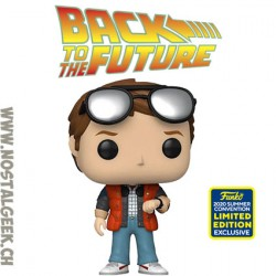 Funko Pop SDCC 2020 Back to the Future Marty Checking Watch Exclusive Vinyl Figure