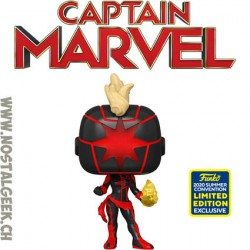 Funko Pop SDCC 2020 Marvel Dark Captain Marvel Edition Limitée