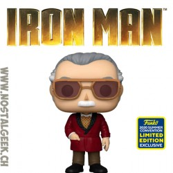 Funko Pop SDCC 2020 Marvel Iron Man Stan Lee as Hugh Hefner Cameo Exclusive Vinyl Figure