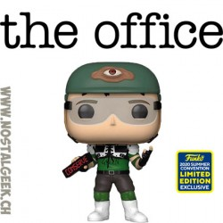 Funko Pop SDCC 2020 The Office Dwight Schrute as Recyclops (Helmet) Edition Limitée