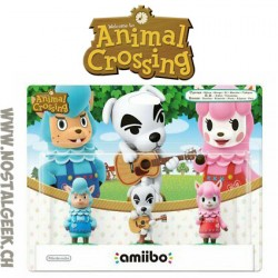 Nintendo Amiibo Animal Crossing Pack de 3 : Serge + Kéké + Risette