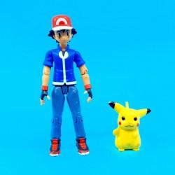 Pokemon Sacha (Ash) et Pikachu Figurine articulée d'occasion (Loose)