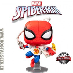 Funko Pop Marvel Spider-Man (Pi Shirt) Edition Limitée