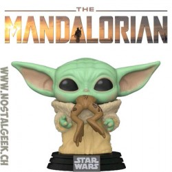 Funko Pop Star Wars The Mandalorian The Child with Frog (Baby Yoda) Vinyl Figure