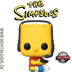 Funko Pop Cartoons The Simpsons Gamer Bart Edition Limitée