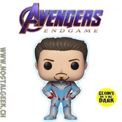 Funko Pop Marvel Avengers Endgame Tony Stark (Quantum Realm Suit) GITD Edition Limitée