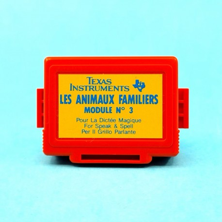 Speak and Spell Texas Instruments les Animaux familiers d'occasion Module N 3 second hand (Loose) French version