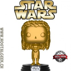 Funko Pop! Star Wars Princess Leia (Ewok Village) Gold Exclusive Vinyl Figure