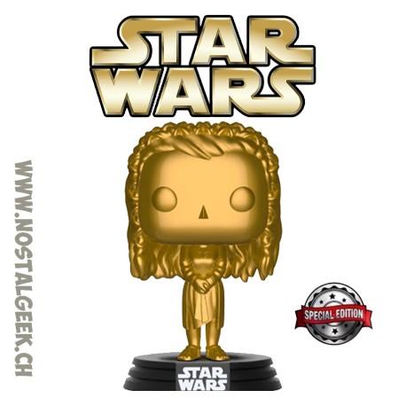 Funko Pop! Star Wars Princess Leia (Ewok Village) Gold Exclusive Vinyl Figure