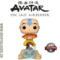 Funko Pop Avatar the last Airbender Aang On Airscooter Edition Limitée