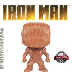 Funko Pop Marvel Iron Man (Wood Deco) Exclusive Vinyl Figure