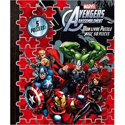 Mon livre puzzle Avengers Rassemblement : Avec 50 pièces Hachette Jeunesse