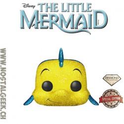 Funko Pop! Disney La Petite Sirène Flounder (Polochon) Glitter Diamond Edition Limitée