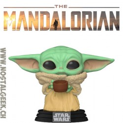 Funko Pop Star Wars The Mandalorian The Child (Baby Yoda) with cup