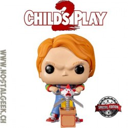 Funko Pop Child's Play 2 Chucky (With Buddy and Scissors) Edition Limitée