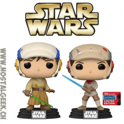 Funko Pop NYCC 2020 Star Wars Luke Skywalker & Princess Leia - Jedi Training 2-Pack Bundle Exclusive Vinyl Figures