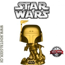 Funko Pop! Star Wars Jango Fett (Gold) Exclusive Vinyl Figure